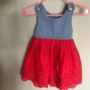 Baby Gap Red & Blue Dress